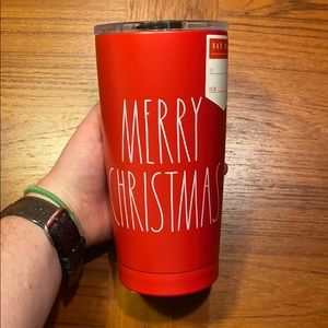 Rae Dunn Merry Christmas Metal Tumbler